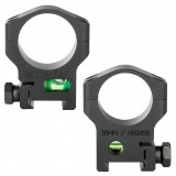 ACCU-TAC 30MM SCOPE RING WITH BUBBLE LEVEL.
