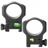 ACCU-TAC 34MM SCOPE RING WITH BUBBLE LEVEL.